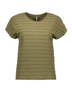 Only T-shirt ONLMILLIE S/S GLITTER TOP JRS 15199160 MARTINI OLIVE
