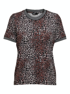 Only T-shirt ONLSPORT LOUISA S/S TOP JRS 15199798 Burnt Henna/LEO