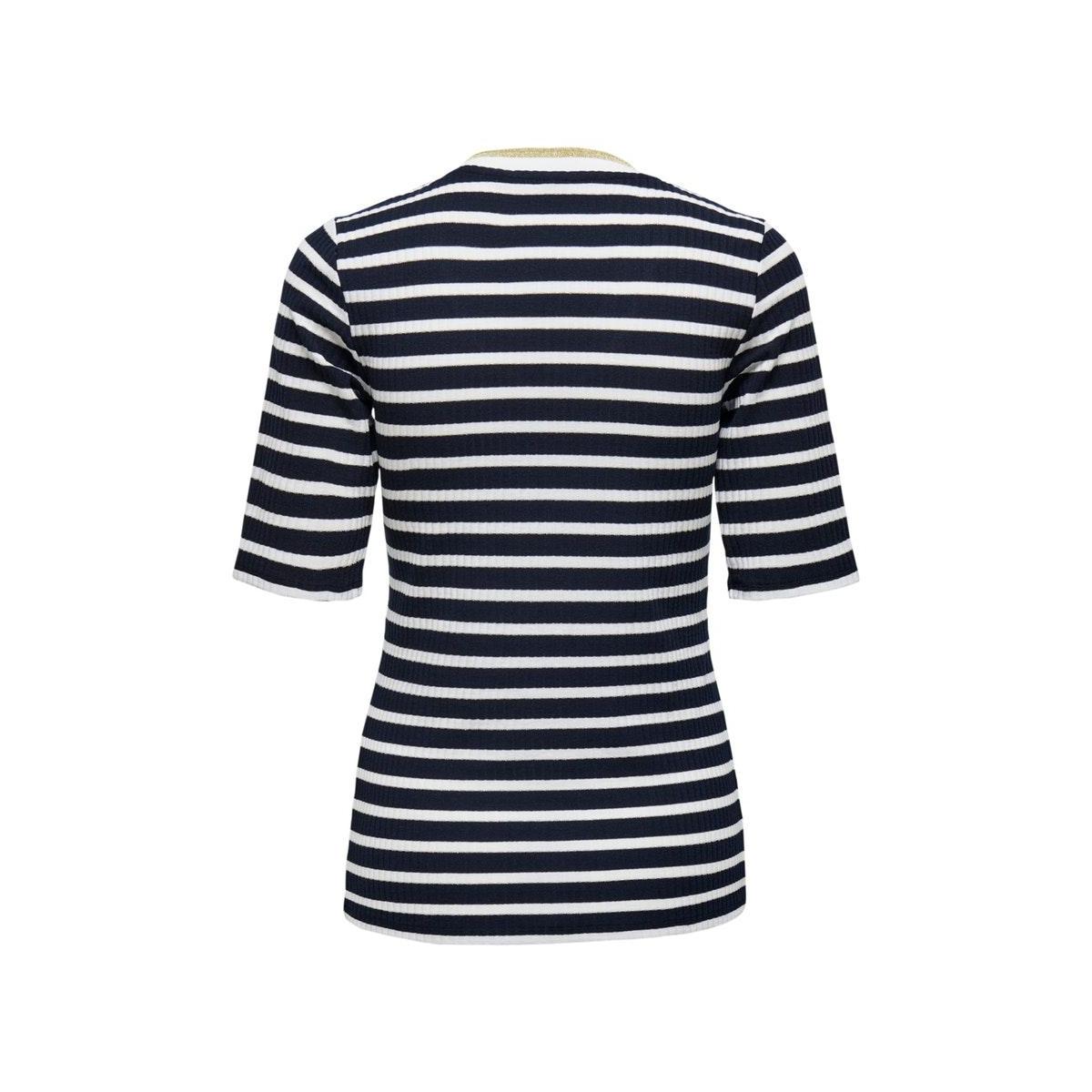 onlkilwa v-neck rib 2/4 top jrs 15219745 only t-shirt nicht sky/cloud danc