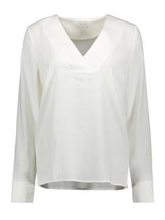 Vila Blouse VILAIA L/S V-NECK TOP - FAV 14053372 CLOUD DANCER