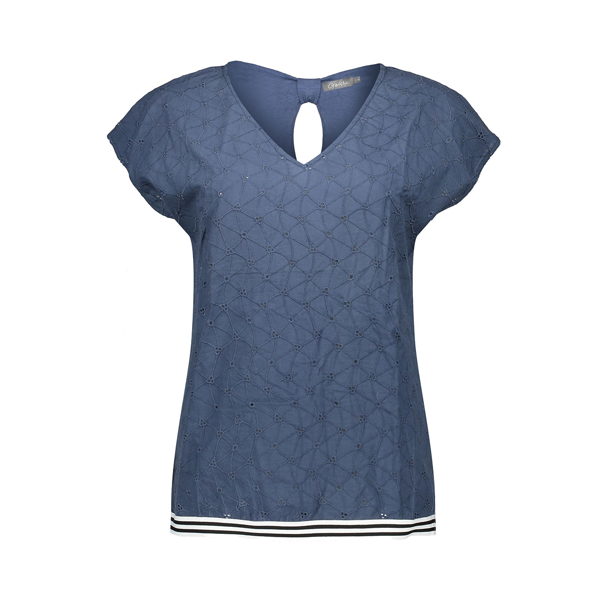 top embroidery and tape 03074 85 geisha t-shirt blue