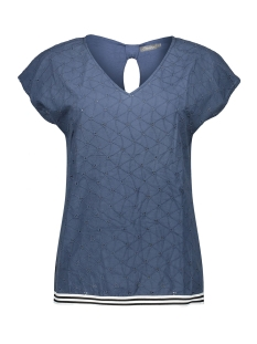 Geisha T-shirt TOP EMBROIDERY AND TAPE 03074 85 BLUE