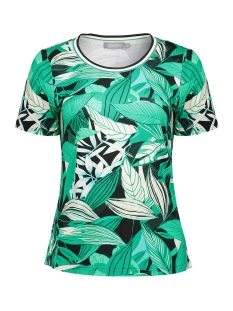 top aop leaves and tape 03256 20 geisha t-shirt green combi