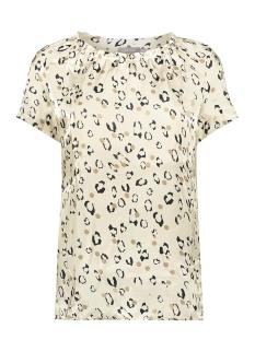 Geisha T-shirt BLOUSE ELASTIC NECK DOTS 03403 20 SAND COMBI