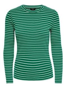 Only T-shirt ONLSOHO L/S RIB TOP JRS 15183055 Verdant Green/CLOUD DANCER