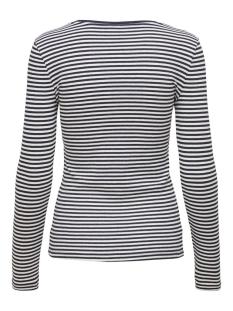 onlsoho l/s rib top jrs 15183055 only t-shirt navy blazer/cloud dancer