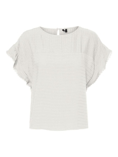 Vero Moda T-shirt VMSIFF SL CROP TOP WVN 10231784 Snow White