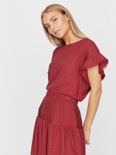 Vero Moda T-shirt VMSIFF SL CROP TOP WVN 10231784 Tibetan Red