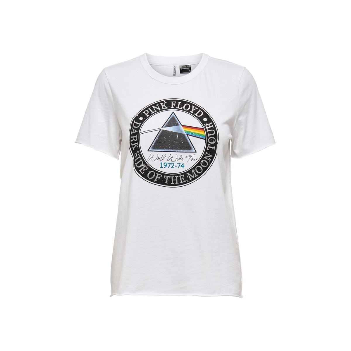 onlpink floyd life reg s/s top box 15206458 only t-shirt bright white/dark side