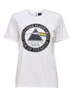 Only T-shirt ONLPINK FLOYD LIFE REG S/S TOP BOX 15206458 Bright White/DARK SIDE