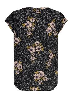 onlnova lux s/s top aop wvn 11 15205191 only t-shirt black aop/bouquets