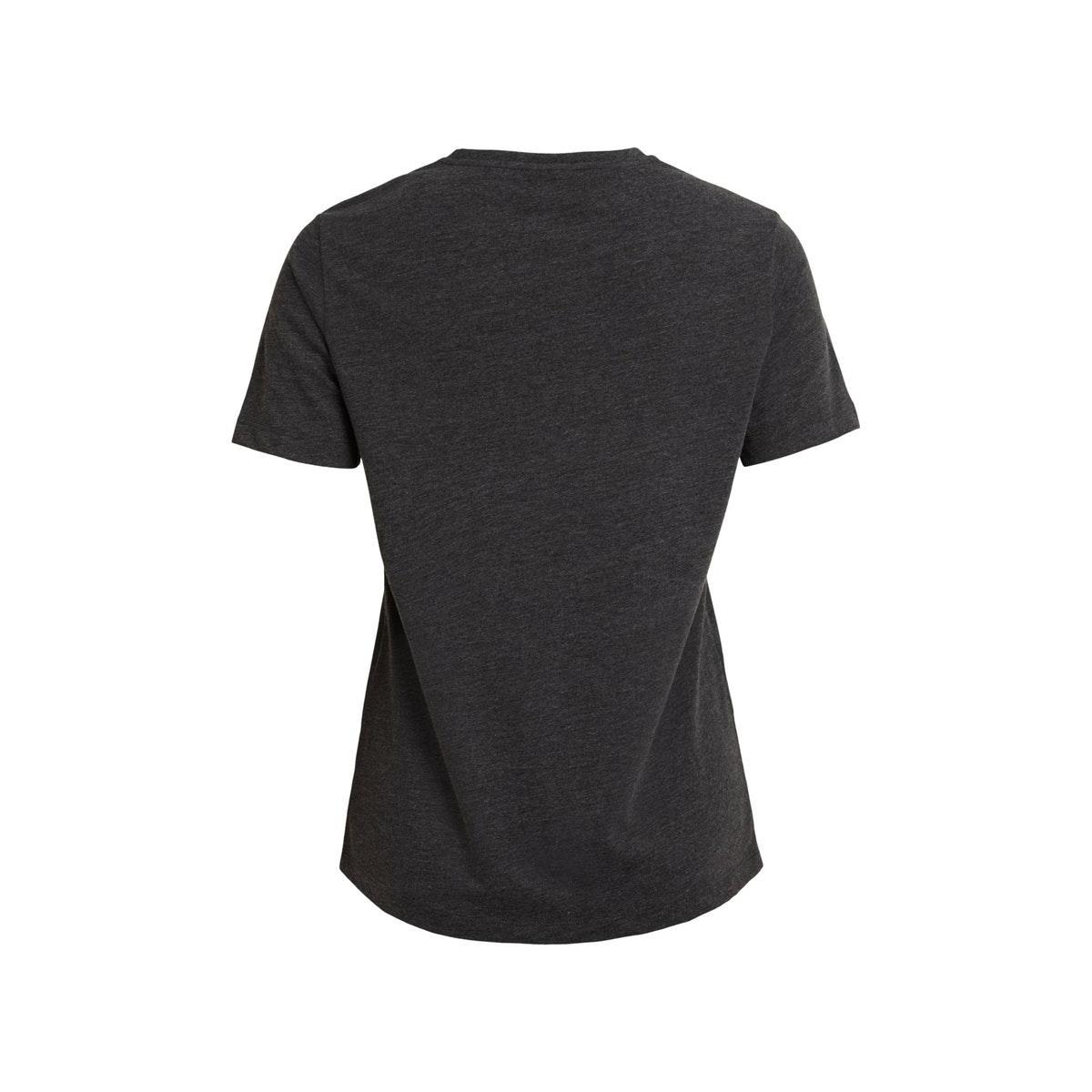 vihaffy t-shirt 14062157 vila t-shirt dark grey mel/perfect