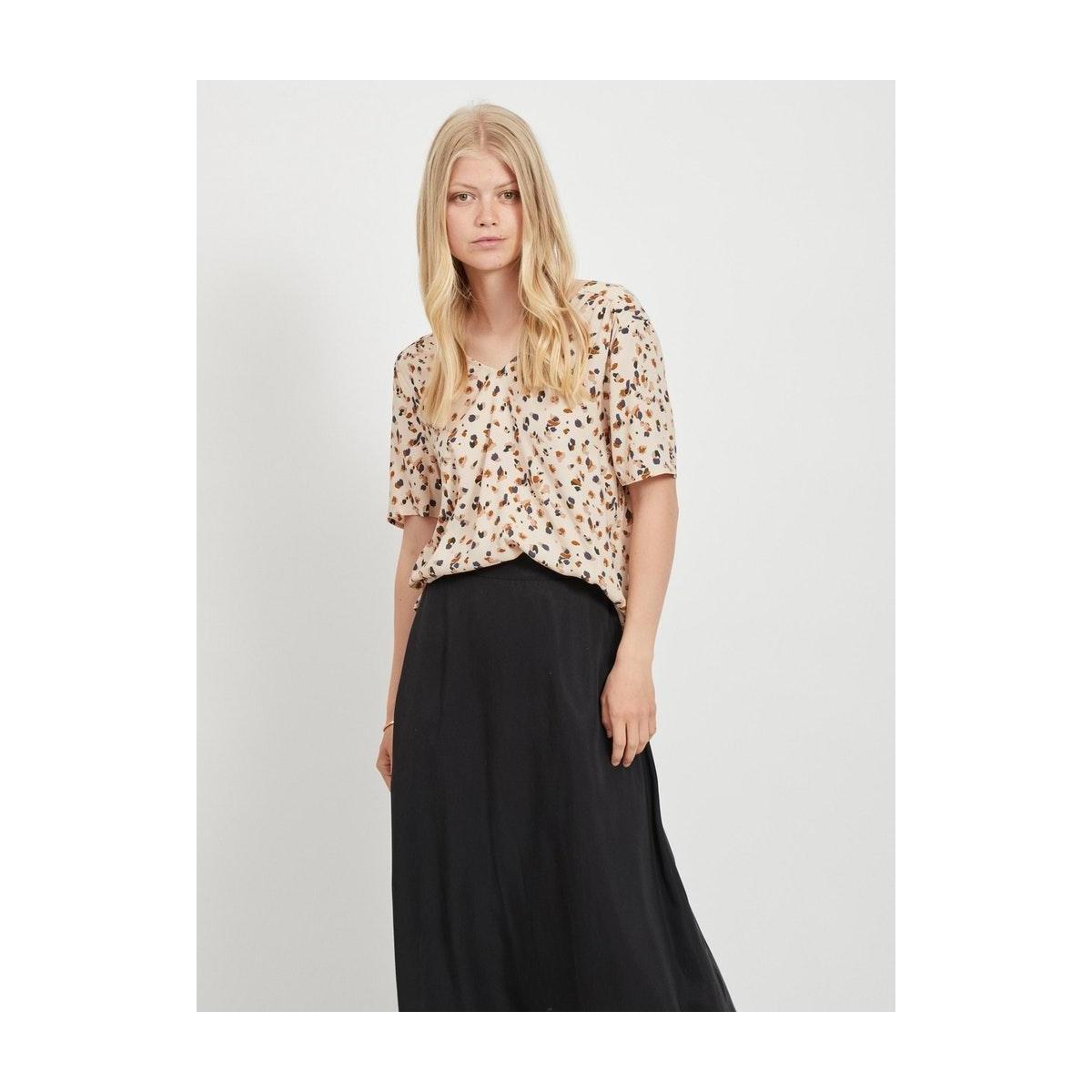 objnelle s/s top pb8 23033099 object t-shirt sandshell/multi colo