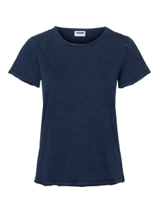 Noisy may T-shirt NMNAYA NATE S/S WASHED TOP COLOR 27010085 Mood Indigo