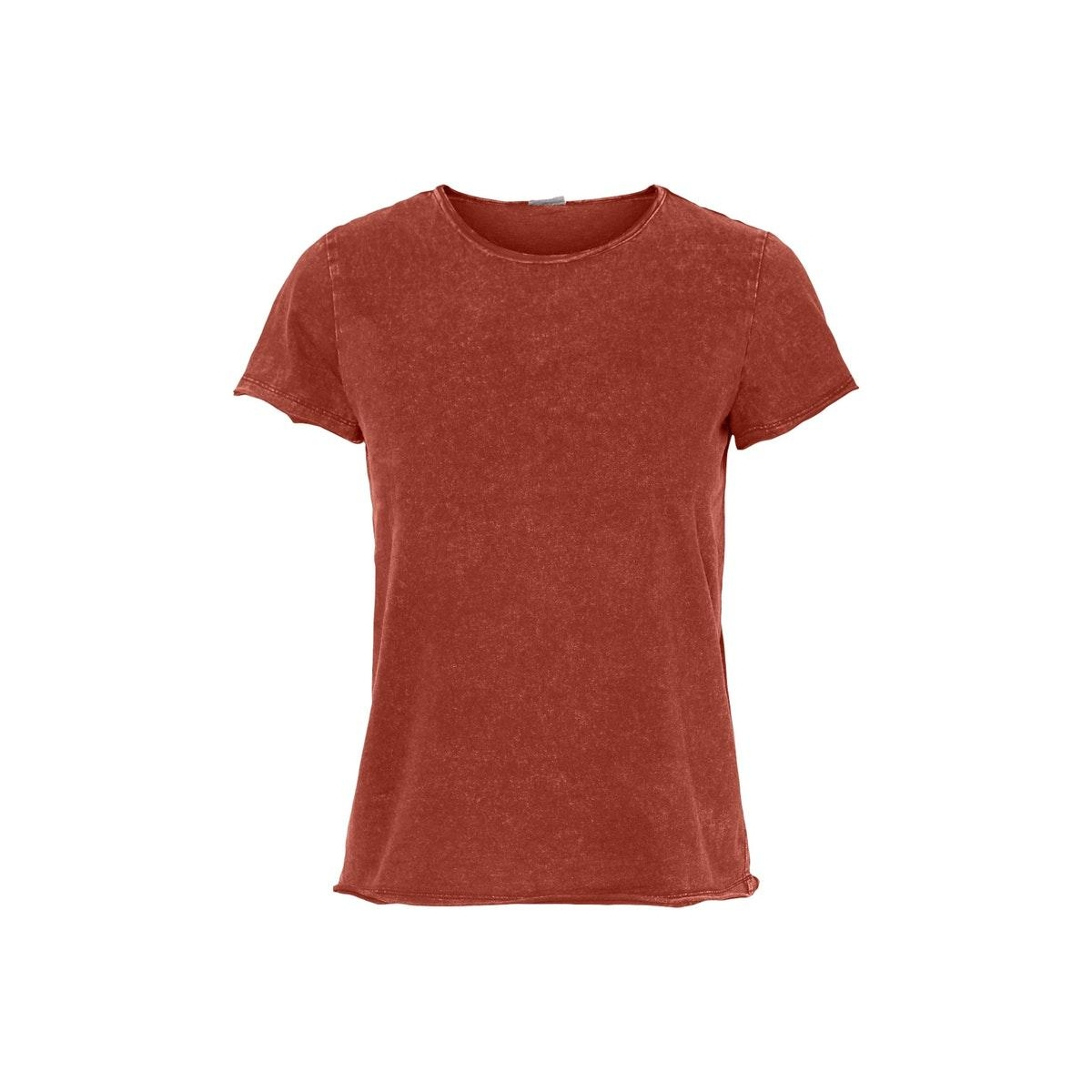 nmnaya nate s/s washed top color 27010085 noisy may t-shirt burnt henna