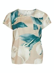 Object T-shirt OBJFANIA URBAN S/S TOP A Q 23034367 Humus/LILY