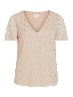vimarvella s/s top/dc 14056076 vila t-shirt pale mauve/gold dots