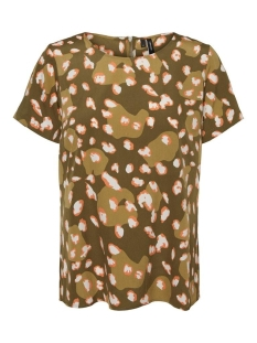 vmiris s/s top exp 10235334 vero moda t-shirt ivy green/leo