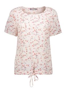 Geisha T-shirt TOP CREPE AOP ROSES SS 03130 11 Nude/Coral