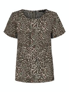 Vero Moda T-shirt VMSASHA SS ZIP TOP AOP 10229239 Bungee Cord/KALIA