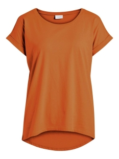Vila T-shirt VIDREAMERS PURE T-SHIRT-NOOS 14025668 Pumpkin Spice
