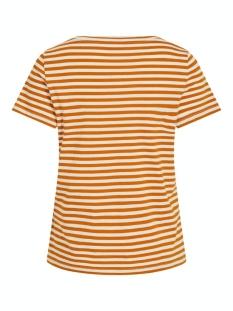 visus o-neck s/s t-shirt/su - noos 14054437 vila t-shirt pumpkin spice/birch