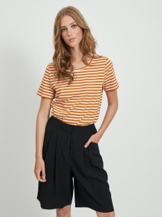 Vila T-shirt VISUS O-NECK S/S T-SHIRT/SU - NOOS 14054437 Pumpkin Spice/BIRCH