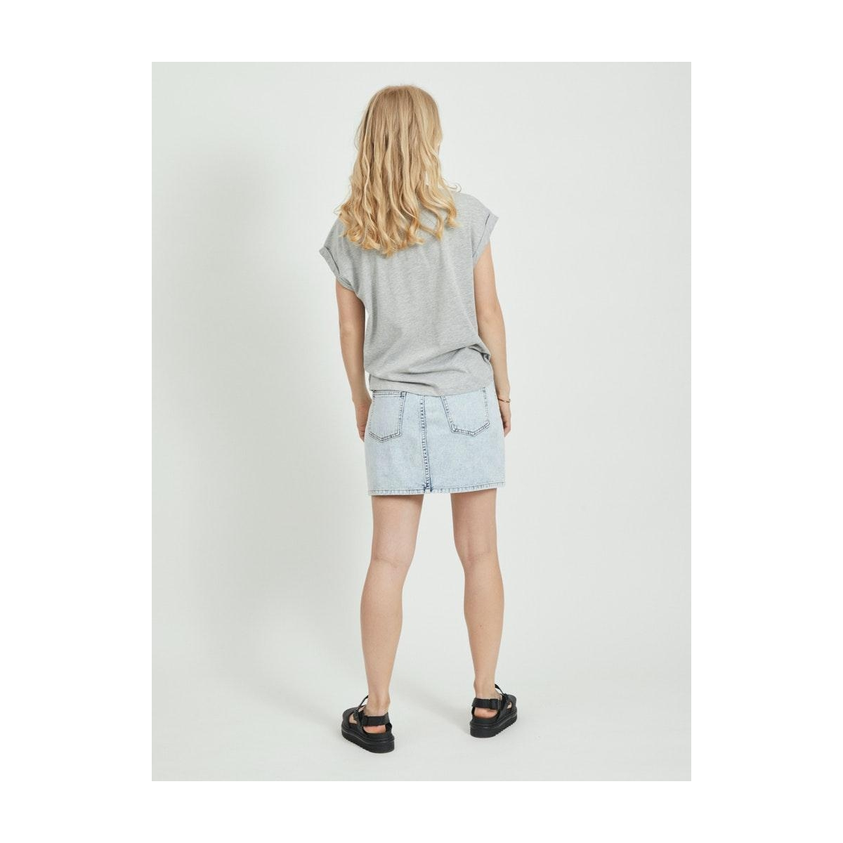 vidulta t-shirt 14061721 vila t-shirt light grey melange