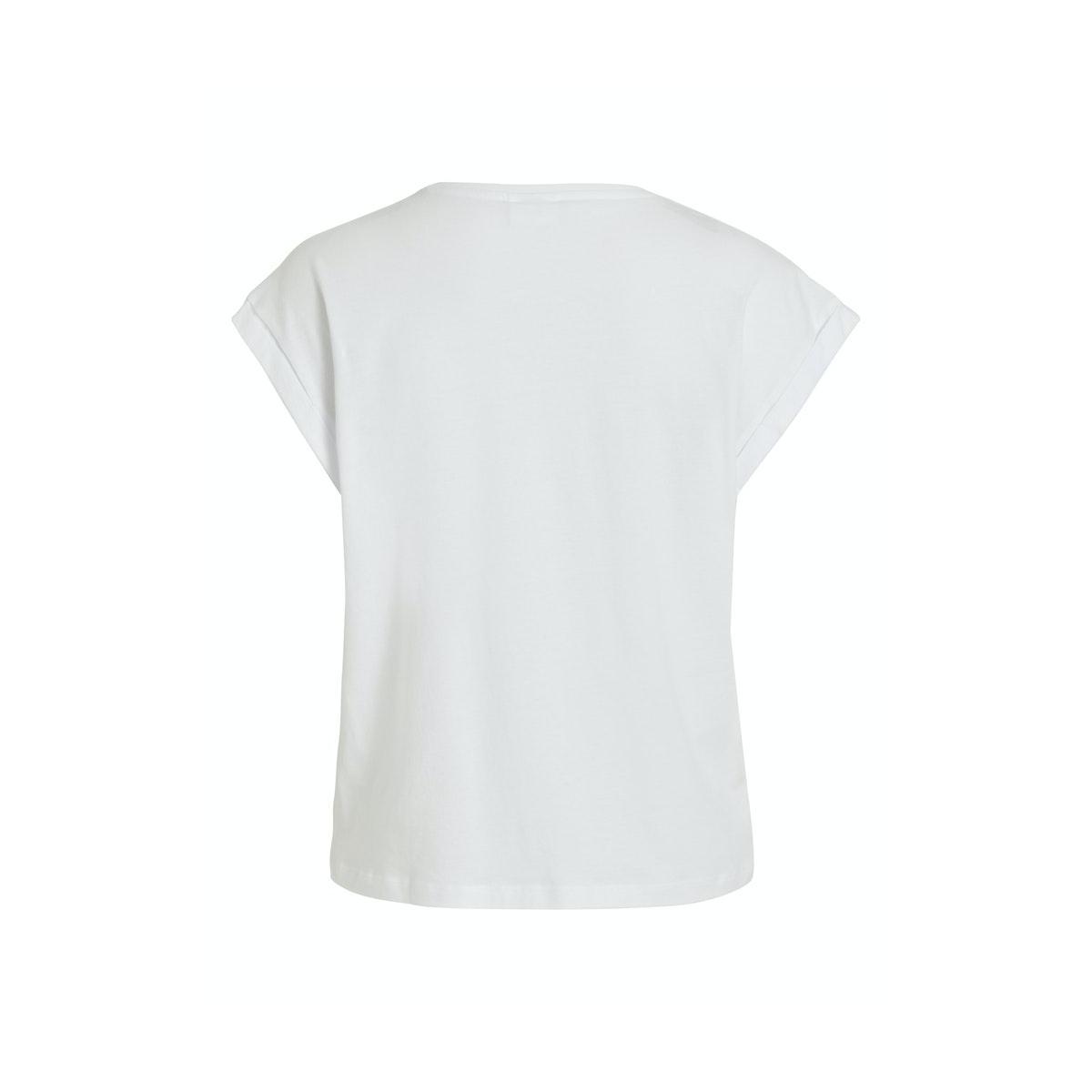 vileta t-shirt 14061716 vila t-shirt optical snow
