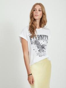 Vila T-shirt VILETA T-SHIRT 14061716 Optical Snow