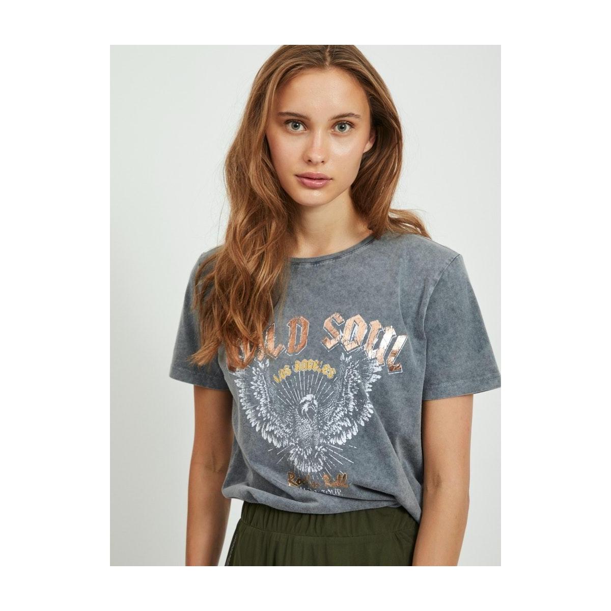 vidulla t-shirt 14061717 vila t-shirt black