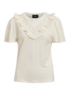 Object T-shirt OBJALINA S/S TOP 110 23033545 Cloud Dancer