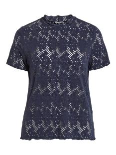 Vila T-shirt VIBELLAS S/S T-SHIRT/2 14059867 Navy Blazer