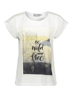 Geisha T-shirt TOP KNITTED SCHOULDERS SLEEVELESS 03102 40 Off-White/beige/gold