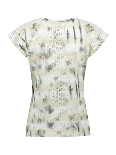 top knitted schoulders sleeveless 03102 40 geisha t-shirt off-white/beige/gold