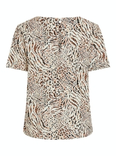 vimask s/s top multina/l 14063033 vila t-shirt birch