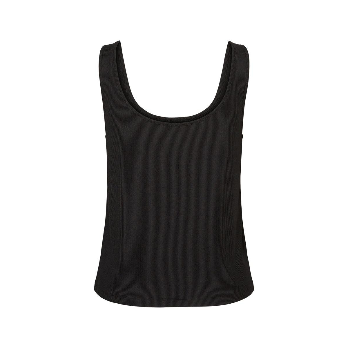vmpolly  s/l rib button top sb4 ga 10233557 vero moda top black