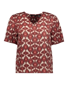 Vero Moda T-shirt VMPARIA SS TOP WVN GA 10234398 BIRCH/DUBARRY