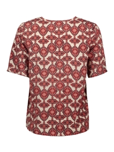 vmparia ss top wvn ga 10234398 vero moda t-shirt birch/dubarry