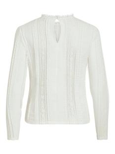 viopsa l/s lace top/des 14058797 vila t-shirt cloud dancer