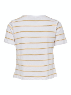 onlmina life s/s knot top box co/sl 15203482 only t-shirt bright white/nicer