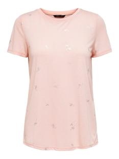 Only T-shirt ONYIBBI S/S AOP TOP JRS 15203211 Lotus/SILVER FLA