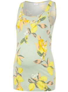 Mama-Licious Positie shirt MLLEMON S/L NELL TANK TOP 2F. A. 20011902 Frosty Green