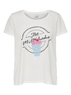 jdycity s/s print top jrs 0320 15198821 jacqueline de yong t-shirt cloud dancer/milkshake