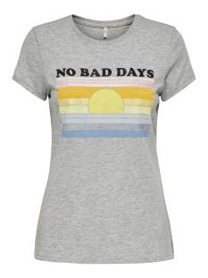 Only T-shirt ONLRETRO LIFE FIT S/S SUMMER TOP BO 15209363 Light Grey Mela/DAYS