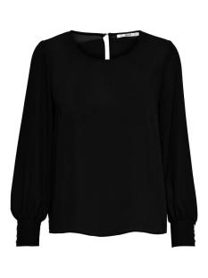 Only T-shirt ONLNORA LIFE L/S O-NECK TOP WVN 15207065 Black
