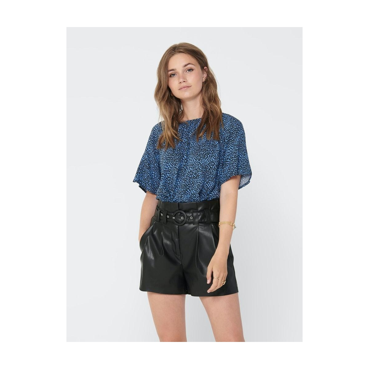 jdypearl s/s top wvn 15209000 jacqueline de yong t-shirt black/lichten blue