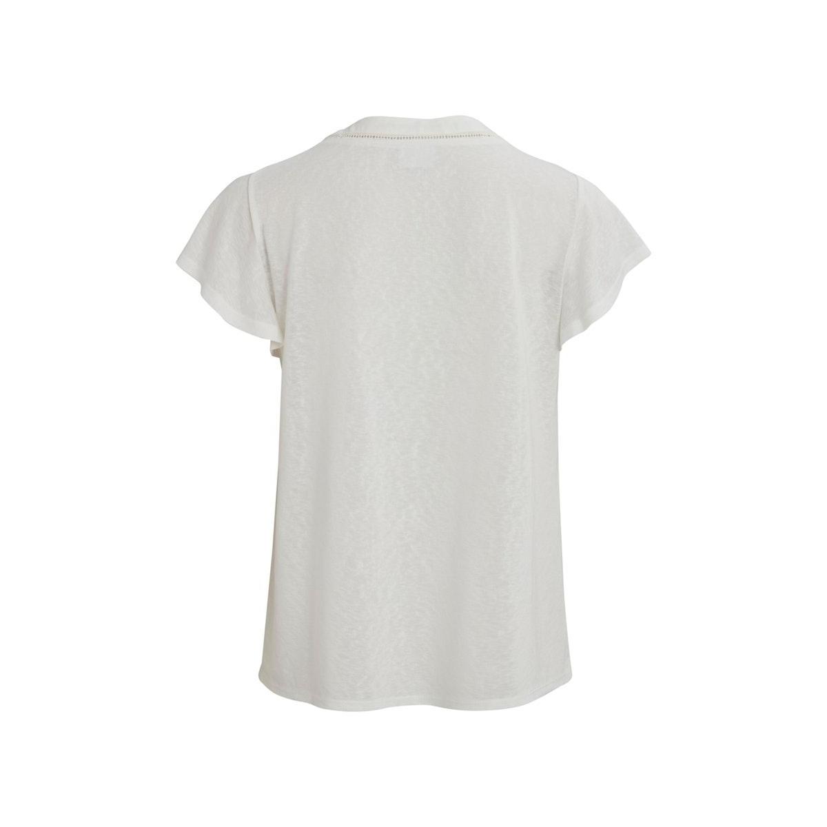 videmandi s/s t-shirt/su 14058837 vila t-shirt cloud dancer/w. light