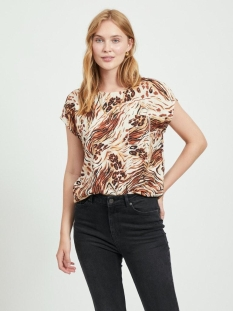 Object T-shirt OBJEMERSON S/S TOP 110 23033586 Sandshell/VILD