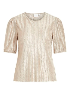 Vila T-shirt VIPLEASA 2/4 SLEEVE TOP 14058859 Simply Taupe
